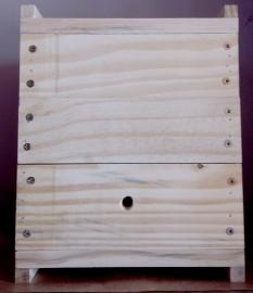 Caixa para Uruçu INPA - 3,5 cm de Espessura - 3 Módulos